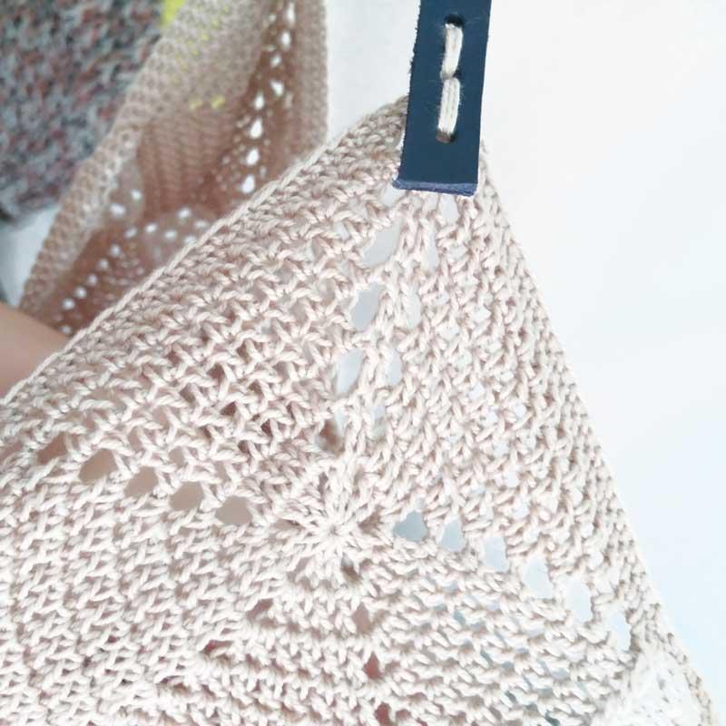 Bolsa de ganchillo. The OhRigami Tote - Sheep Days patrón de crochet