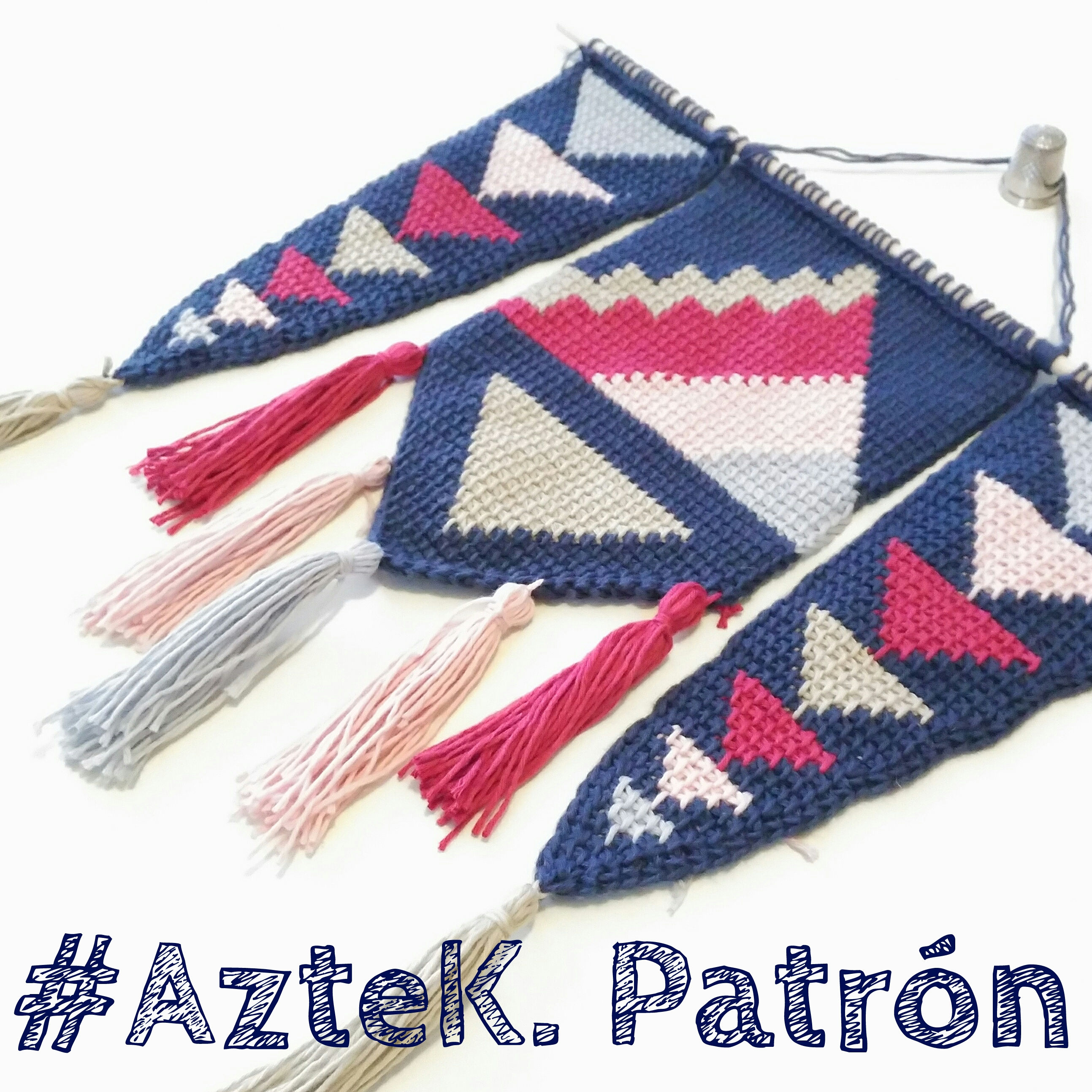 AzteK. Patrón en ganchillo tunecino - Sheep Days