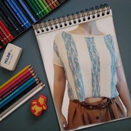 PATRÓN DE PUNTO. Camiseta Crayón