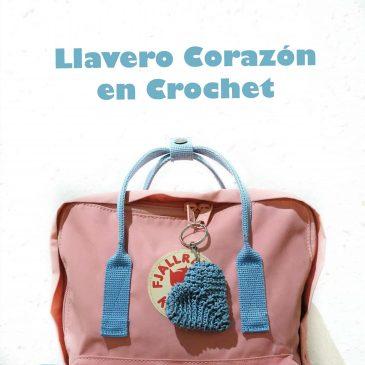 Llavero Corazón en Crochet